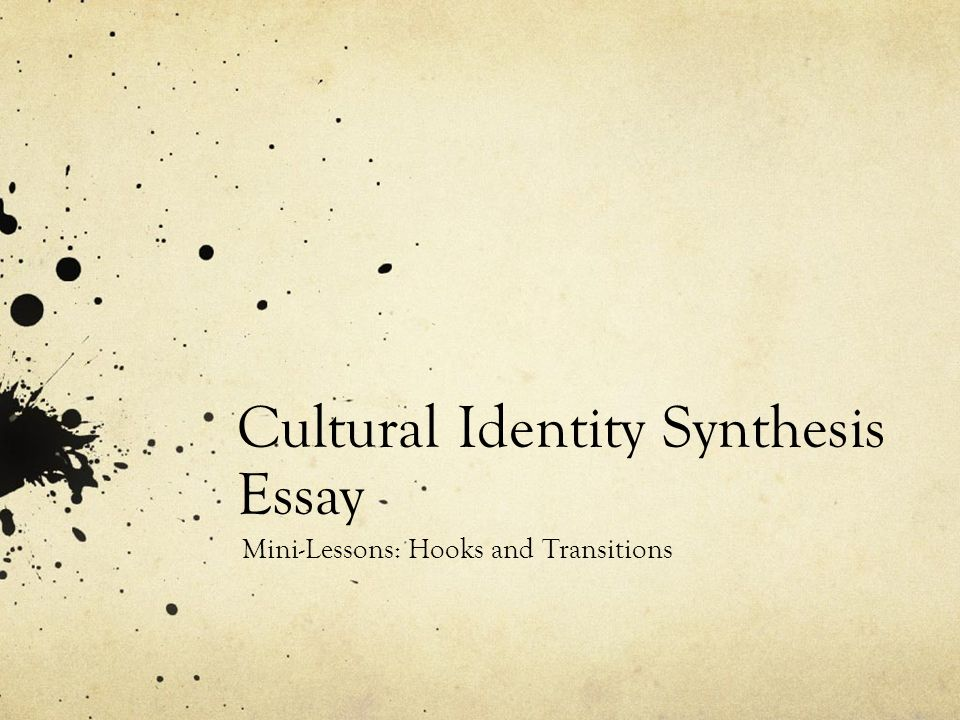 essays on cultural identity Culture is the common denominator that makes the actions of the individuals understandable to a particular group that is, the system of shared values, beliefs, behaviours, and artefacts making up a society's way of life.