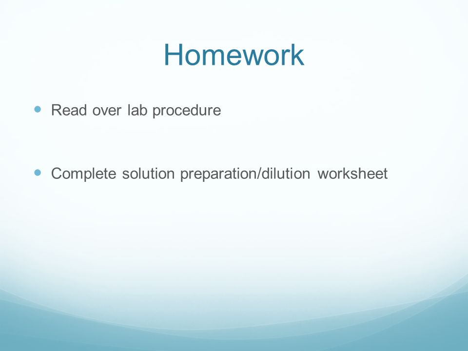 Solution Preparation And Dilutions Solution Preparation How Do We