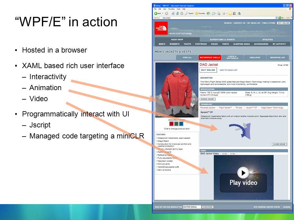 Microsoft's Rich Web Technology XAML,WPF and WPF/E July