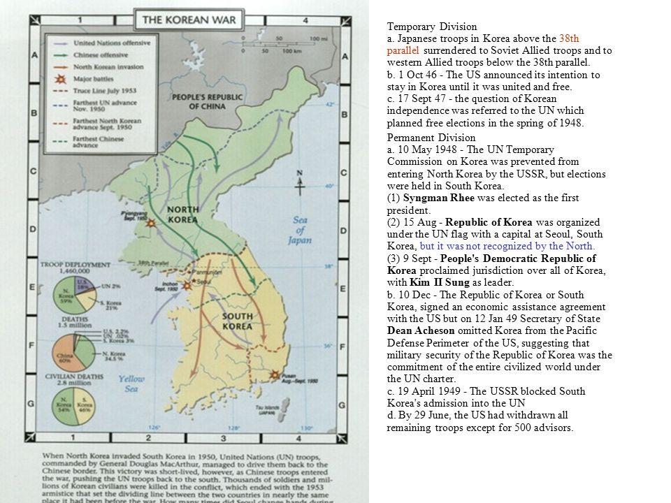 Korean War Ib Global Politics 1temporary Division A Japanese - 38th-parallel-us-map