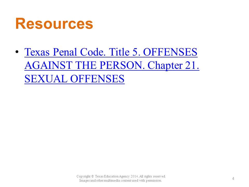 Sexual contact penal code texas