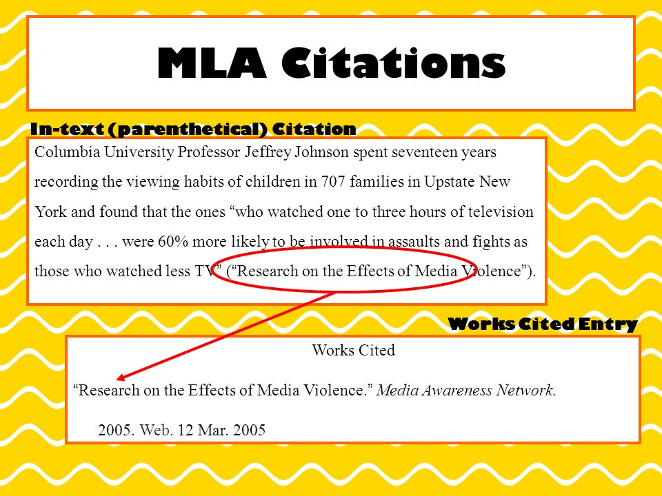 how to do embedded citations mla
