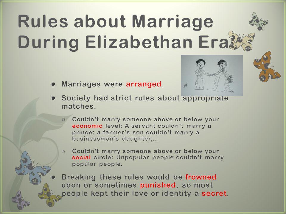 elizabethan era dating and marriage
