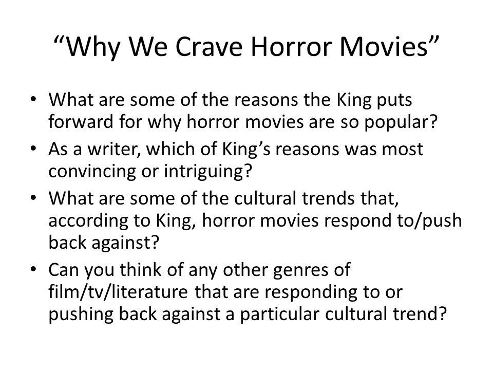 Machiavelli Essays Why We Crave Horror Movies What Are Some Of The Reasons The King Puts  Forward For Safety Essay also Scholarship Essay Writing Help Why We Crave Horror Movies Quickwrite Respond To Stephen Kings  The Epic Of Gilgamesh Essay
