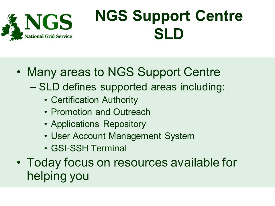 The Ngs Support Centre Katie Weeks Ngs Support Centre Sld Many