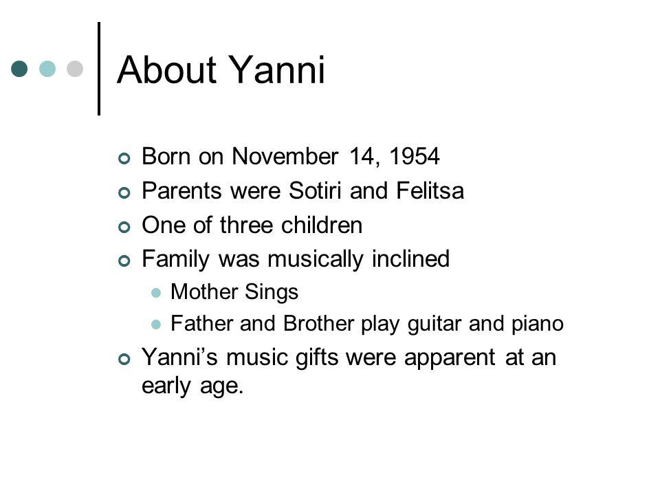 """Yannis Chryssomalis """"Yanni"""" By: Cody Bowman  Yannis"""