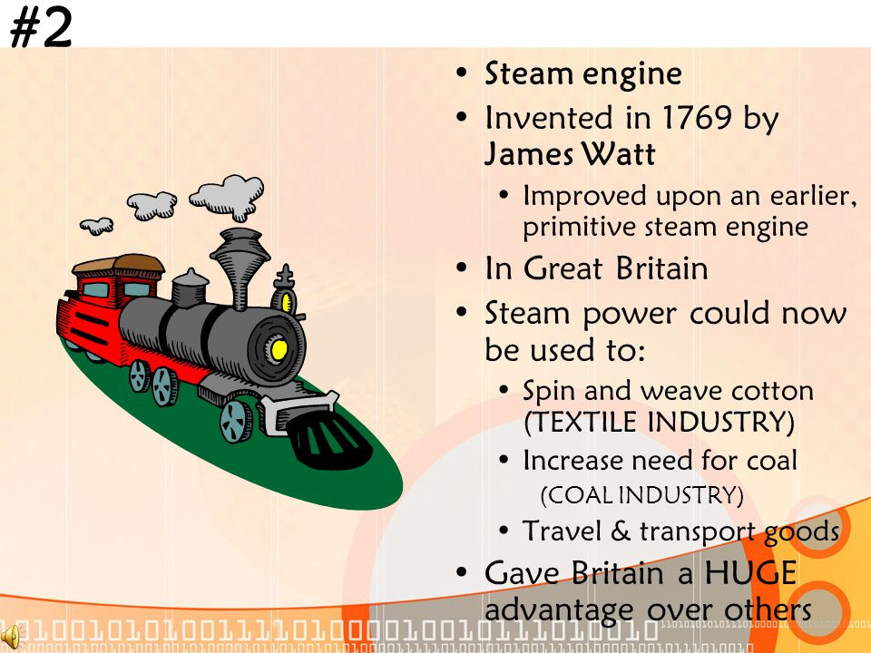 Objective: Identify the key inventions of the Industrial