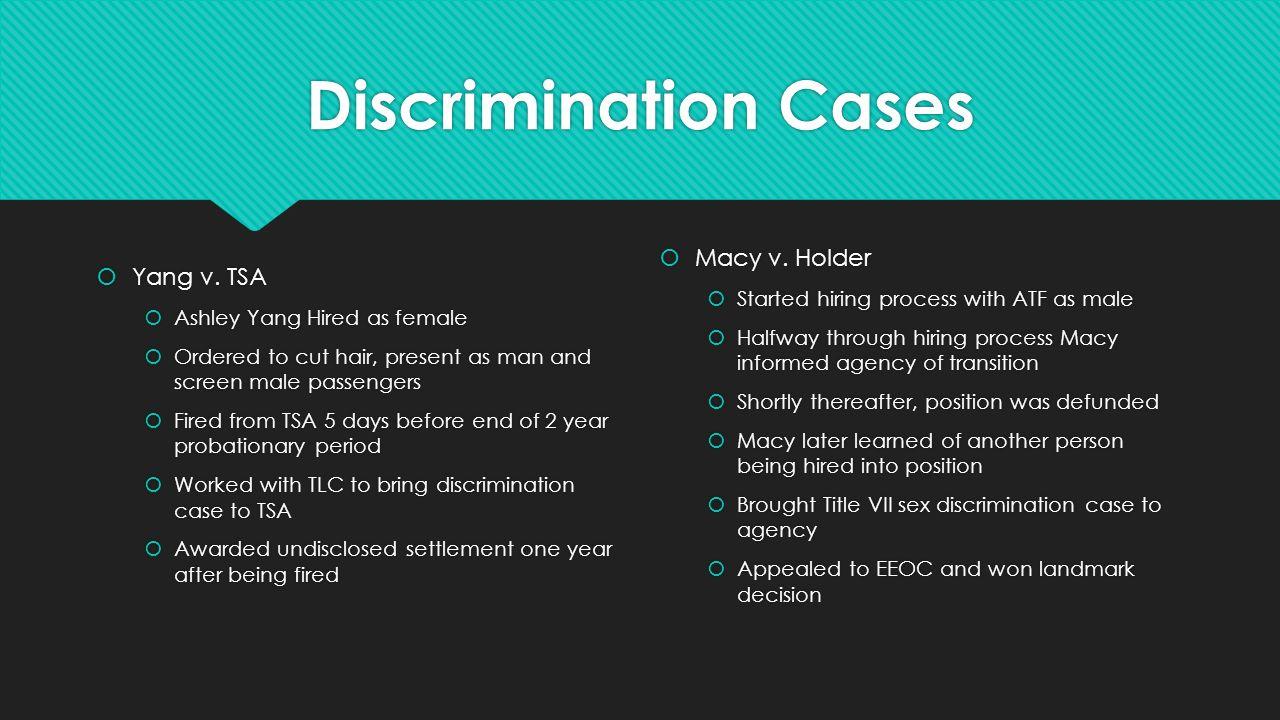 Sexual identity discrimination the law by jr smith kim rivera discrimination cases yang v publicscrutiny Choice Image