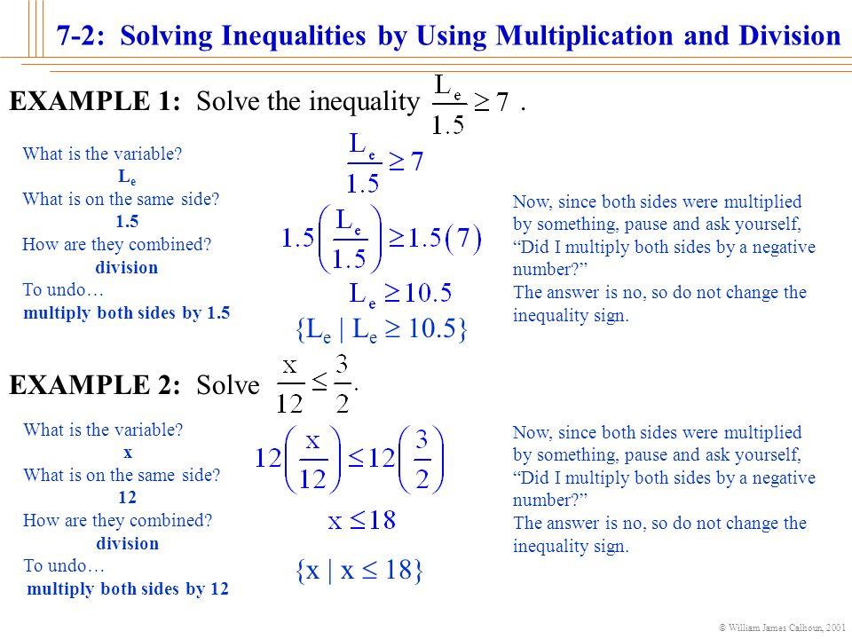 3 2, 3-3 solving one-step inequalities.