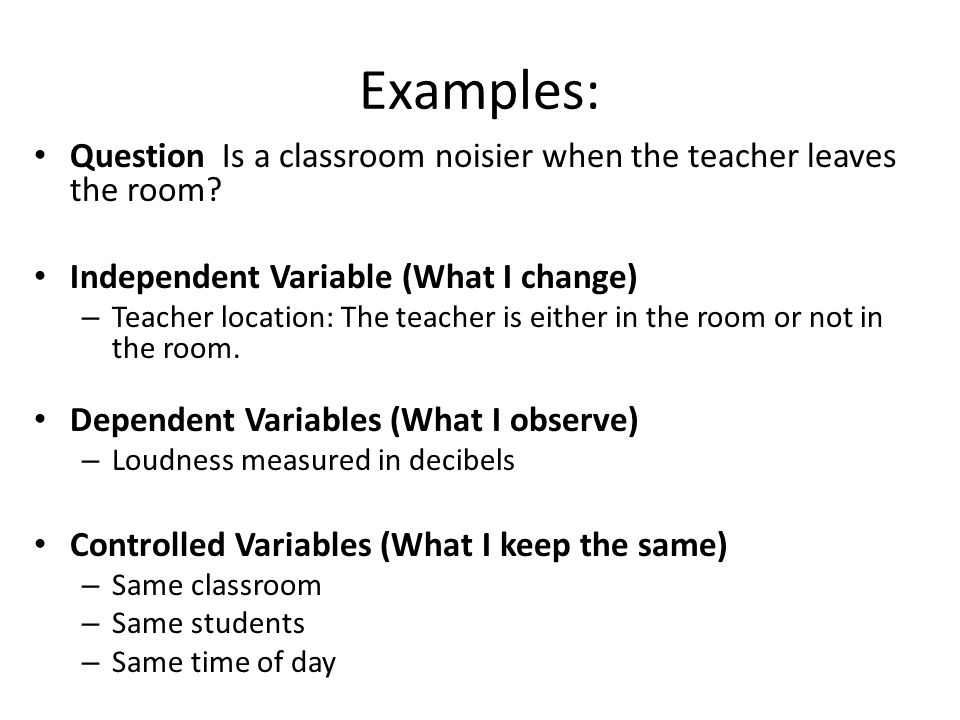 Examples Of Independent And Dependent Variables Images Example