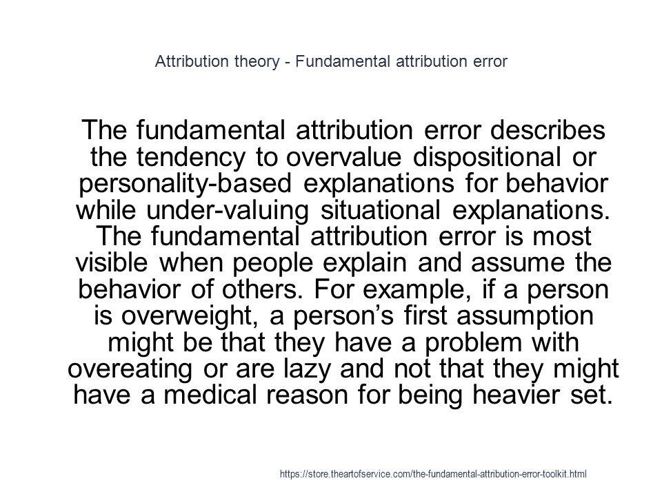 Fundamental Attribution Error Httpsstoreeartofservicethe