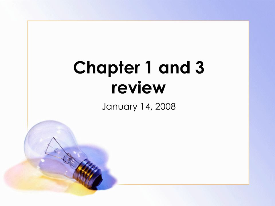Chapter 1 And 3 Review January 14 Comprehension Questions P 1