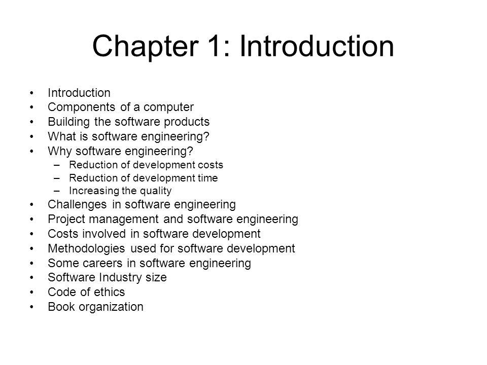 Presentation of software engineering.