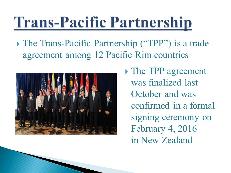 February 9 2016 The Pike Law Firm Pc The Trans Pacific