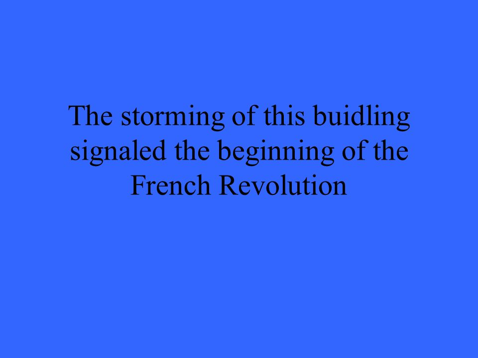 the french revolution signaled