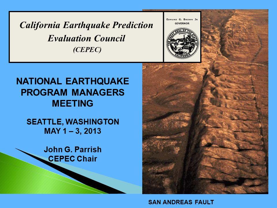 California Earthquake Prediction Evaluation Council (CEPEC