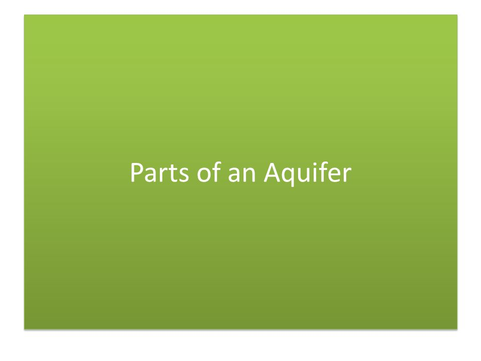 Parts of an Aquifer