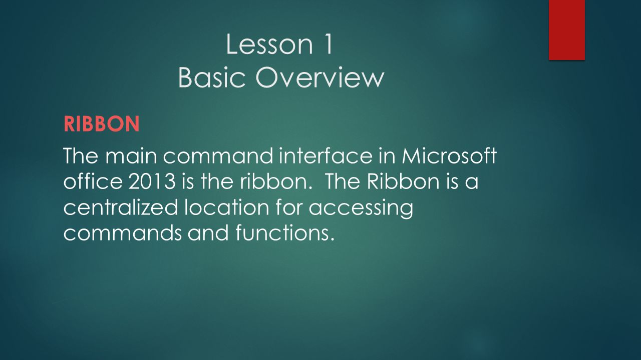Microsoft Word Certification Prep Lesson 1 Basic Overview Ribbon