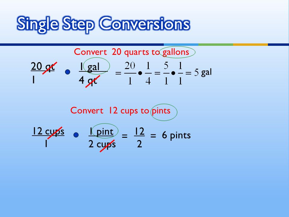Unit Conversions use fractions/ratios to change the units of ...