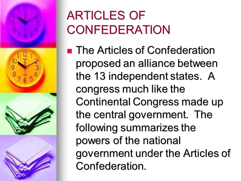 articles of confederation vs the united The articles of confederation was the united states' first constitution it was written in order to unite states after the american revolution it was written in order to unite states after the.