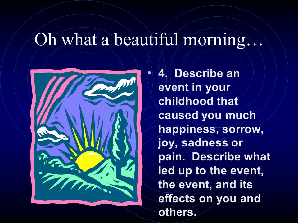 how to describe a beautiful morning