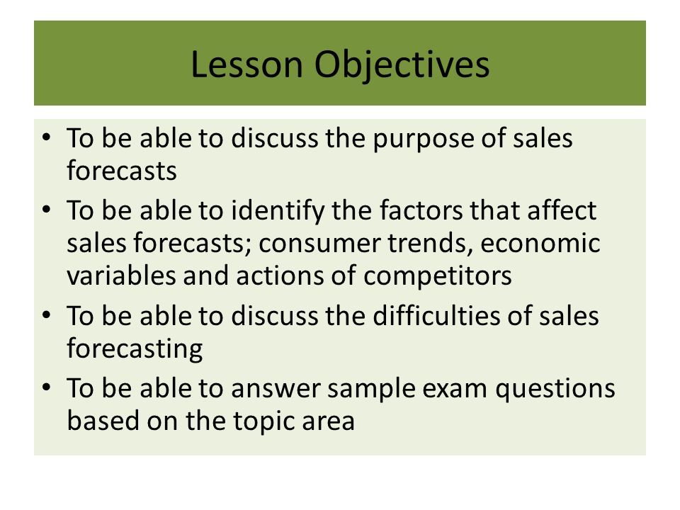 221 sales forecasting as edexcel new specification 2015 business by