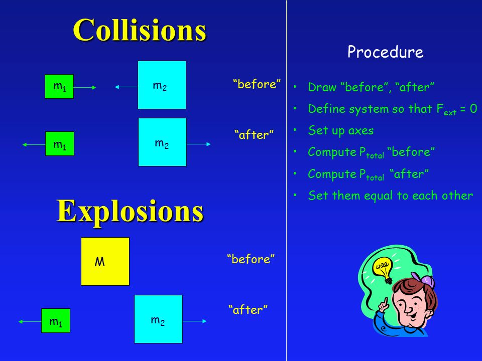 Lecture 12 Collisions And Explosions L Momentum Examples E