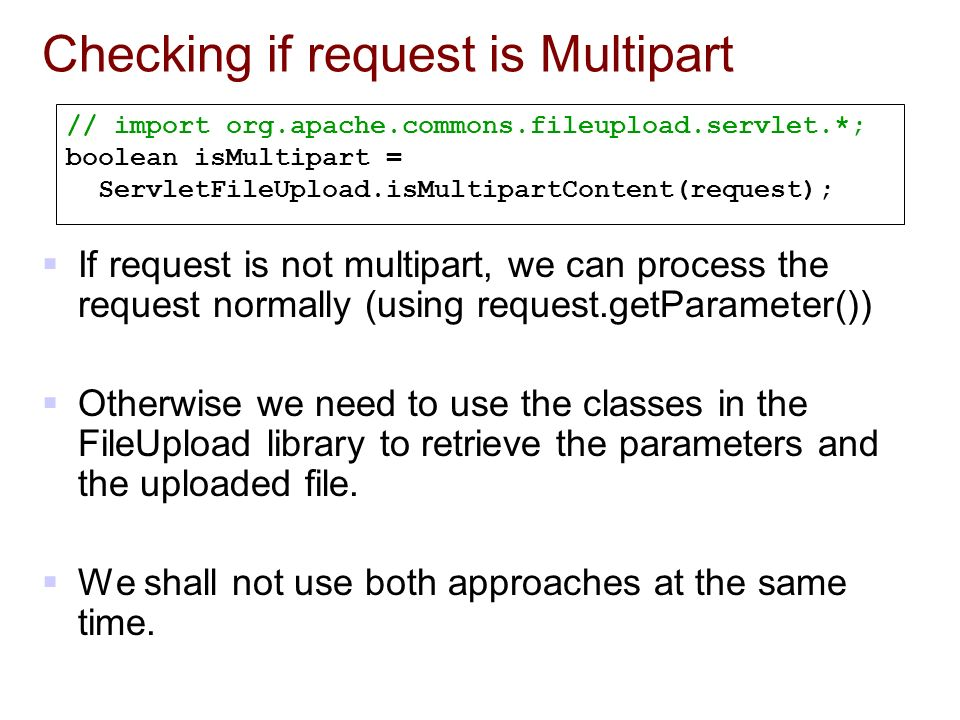 CSC 2720 Building Web Applications File Upload using Apache