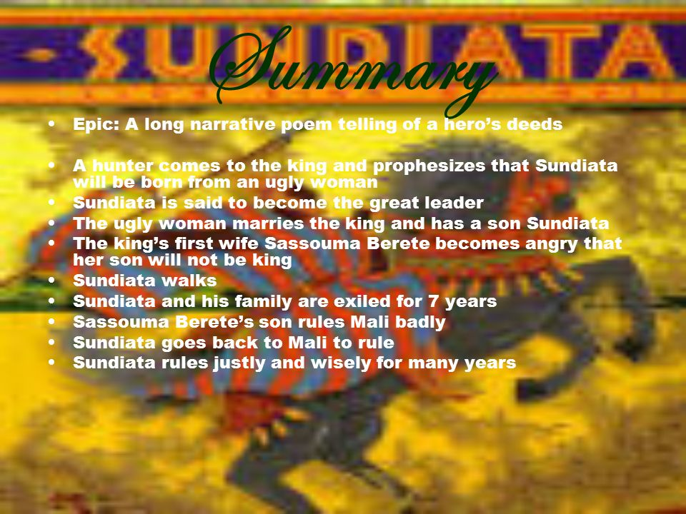 sundiata an epic of old mali
