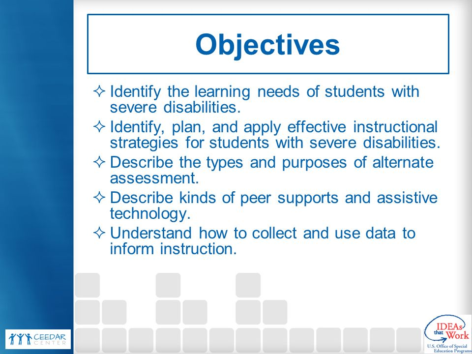 Instructional Strategies Supports And Assessment For Students With