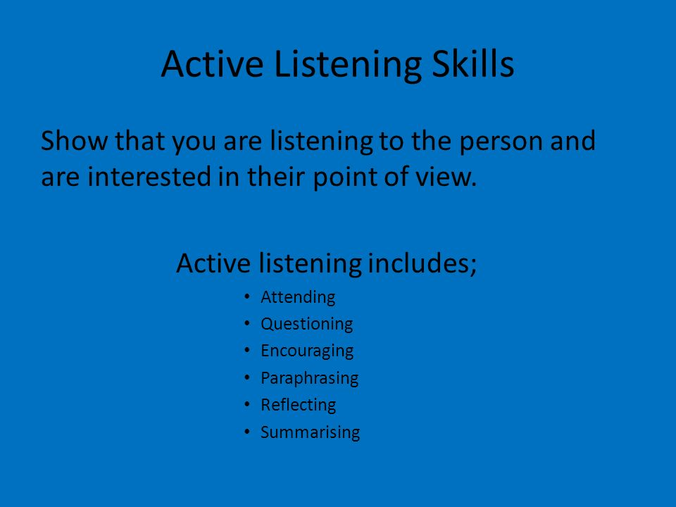 active listening skills in counselling