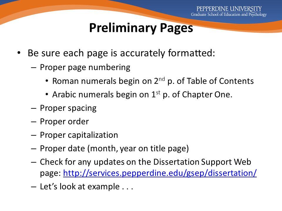pepperdine gsep dissertation support