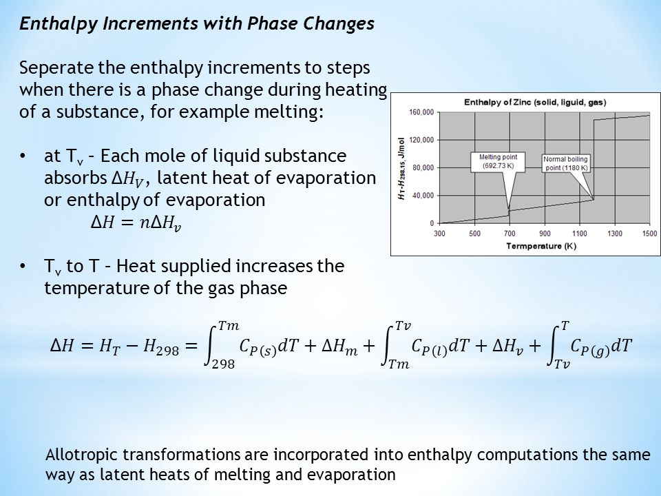 Sensible Heat and Enthalpy Calculations  constant = A