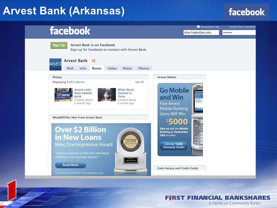Social Media and First Financial Bankshares Dave Hogan September 21