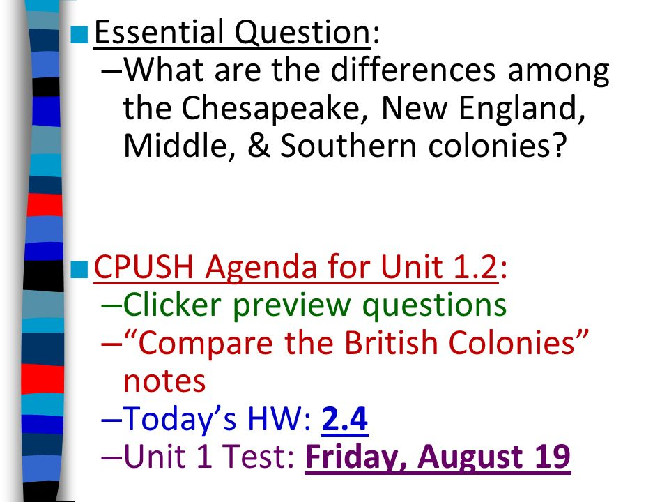 difference between chesapeake and southern colonies