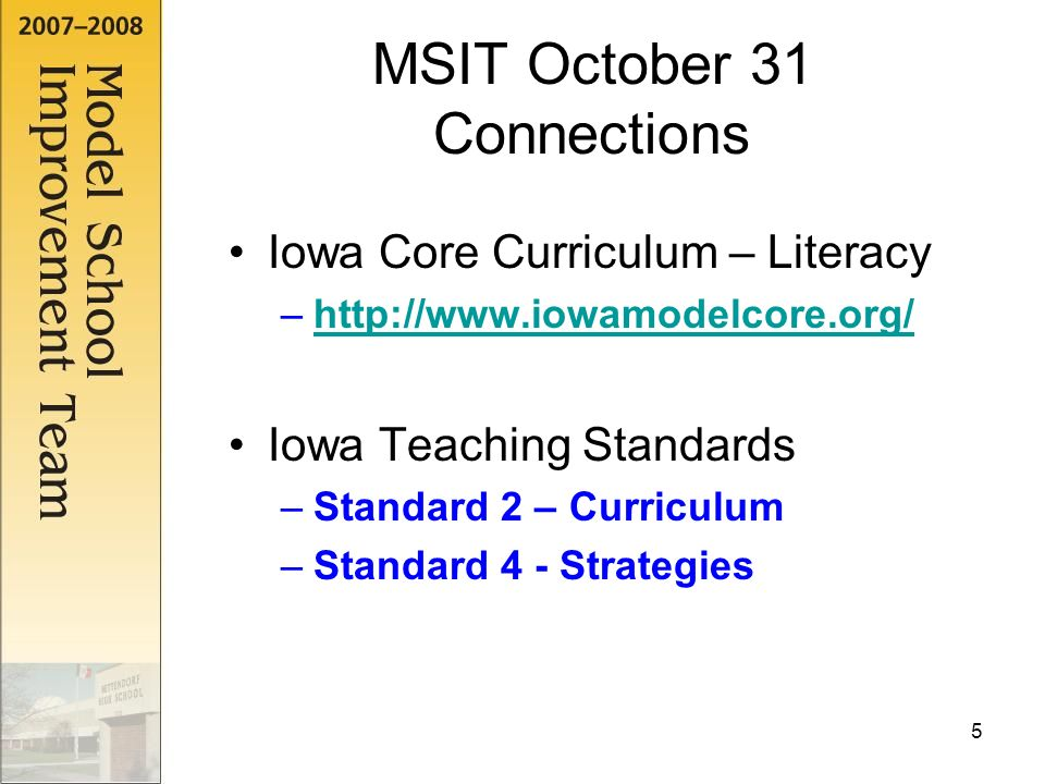 1 October 31 MSIT PD Timeline July 23 And 24 Full Days August 29