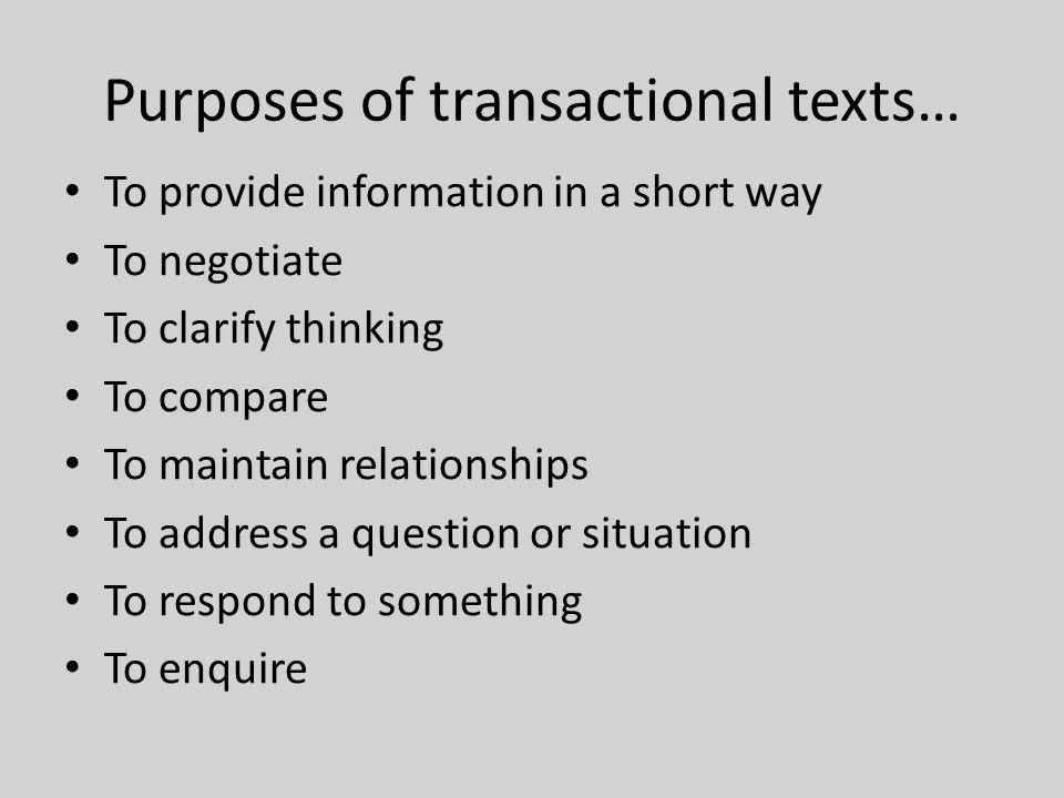 transactional writing rubric