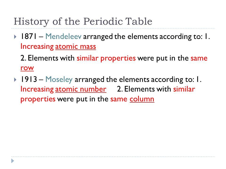 Phenomenal Periodic Trends History Of The Periodic Table 1871 Download Free Architecture Designs Momecebritishbridgeorg