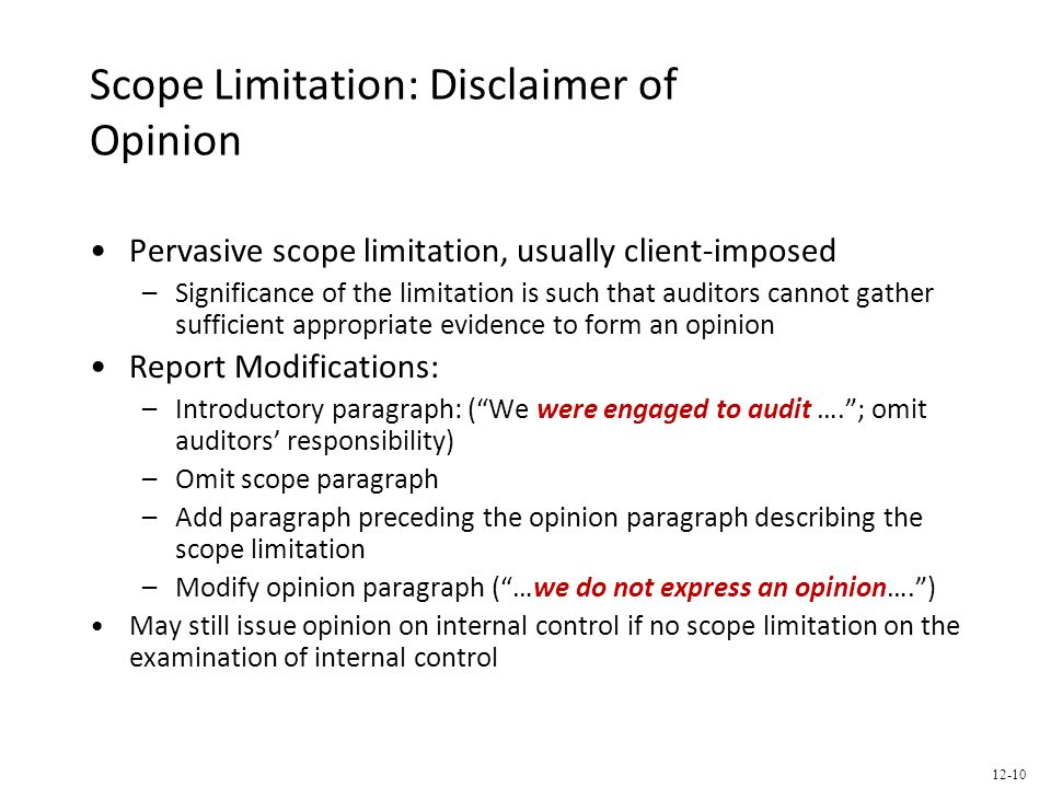 scope and limitation