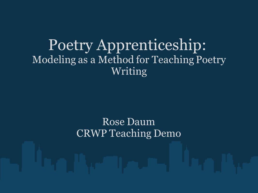 writing apprenticeship model