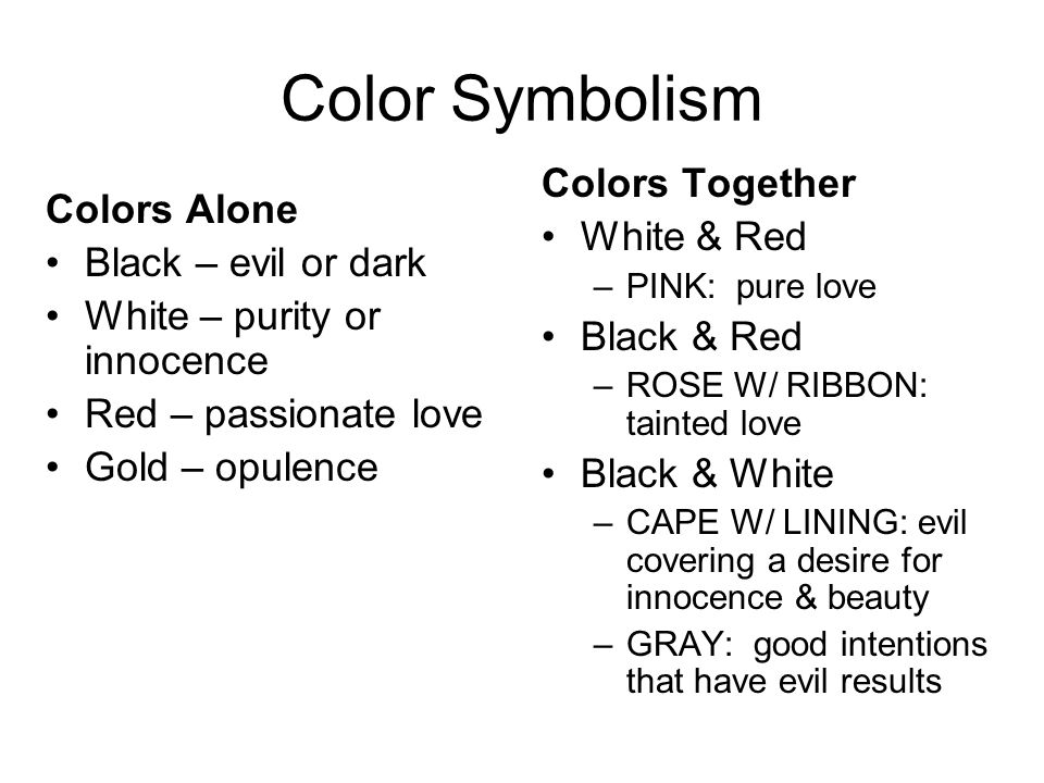 red and black symbolism