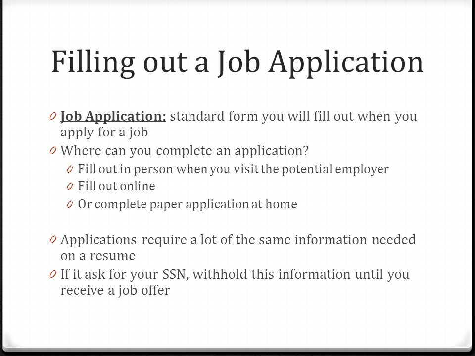 Ch 13 Pg Applying For A Job Applying For A Job 0 Applying Means