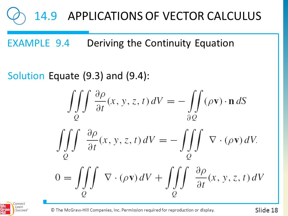 CHAPTER 14 Vector Calculus Slide 2 © The McGraw-Hill