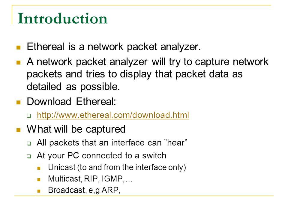 ethereal wireshark tutorial yen cheng chen im ncnu april ppt download