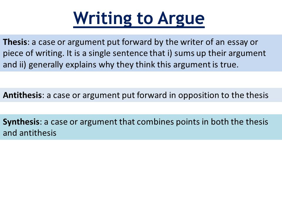 antithesis essay structure