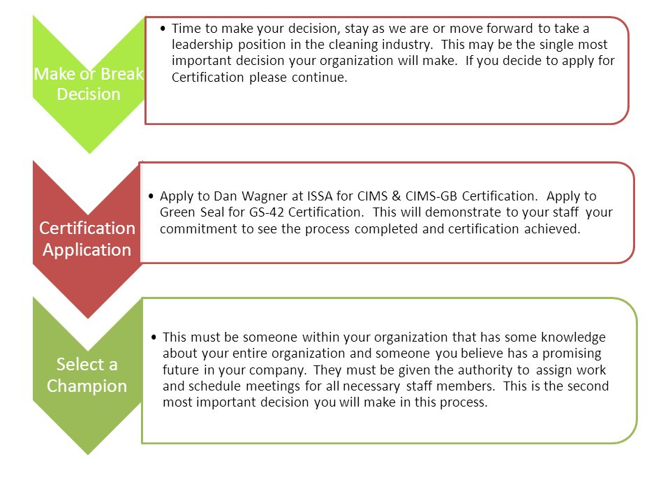 The Path Toward Third Party Certification For Cleaning Organizations