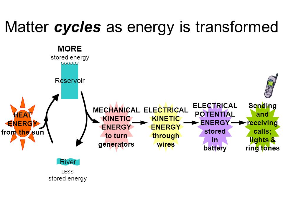 Energy and matter transformations in cells  Warm-up Energy