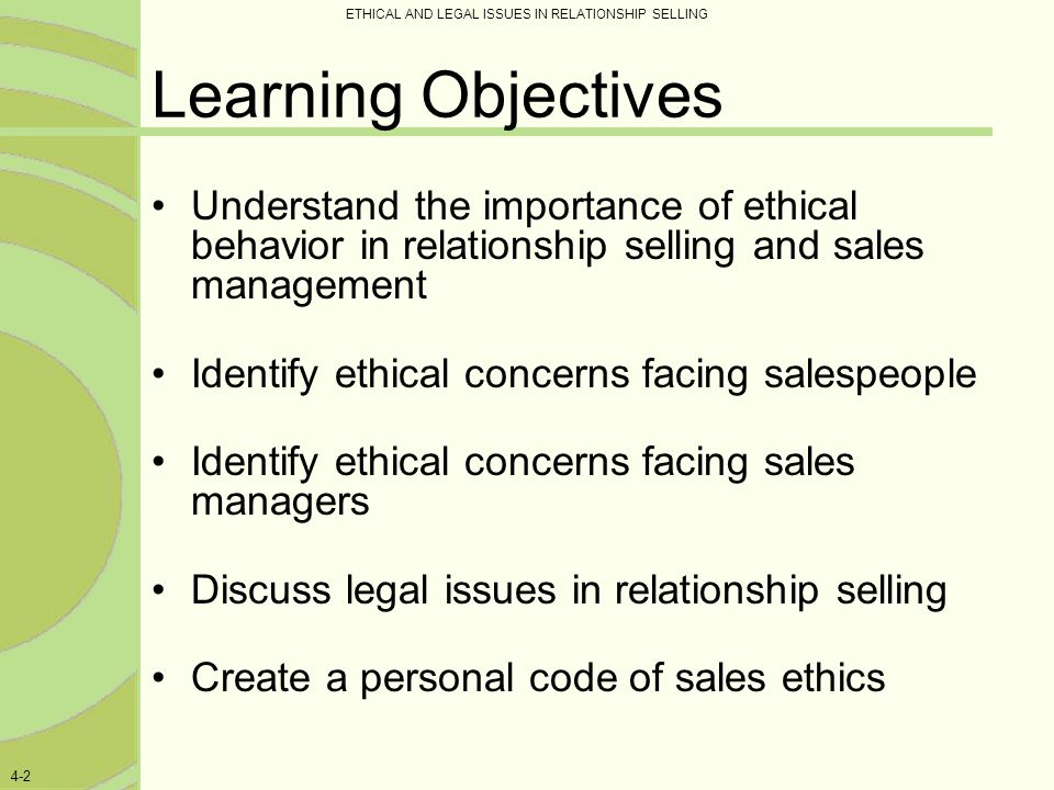 ethical issues in sales management