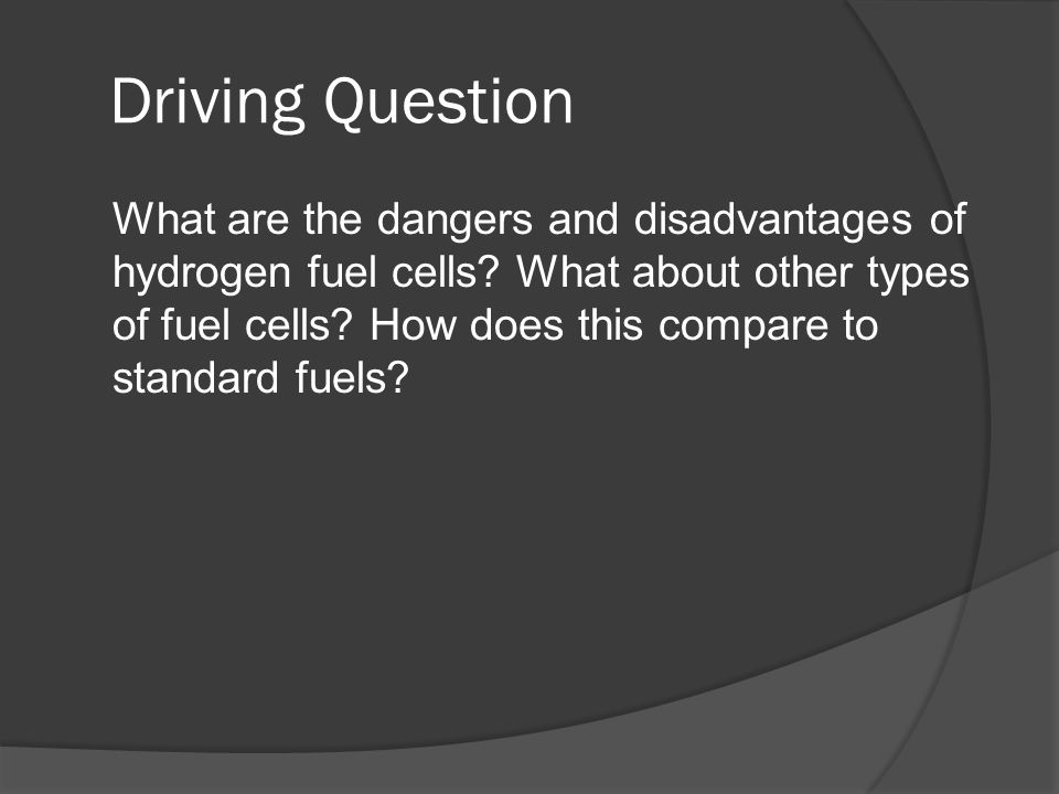 Preston and Nate  Driving Question What are the dangers and