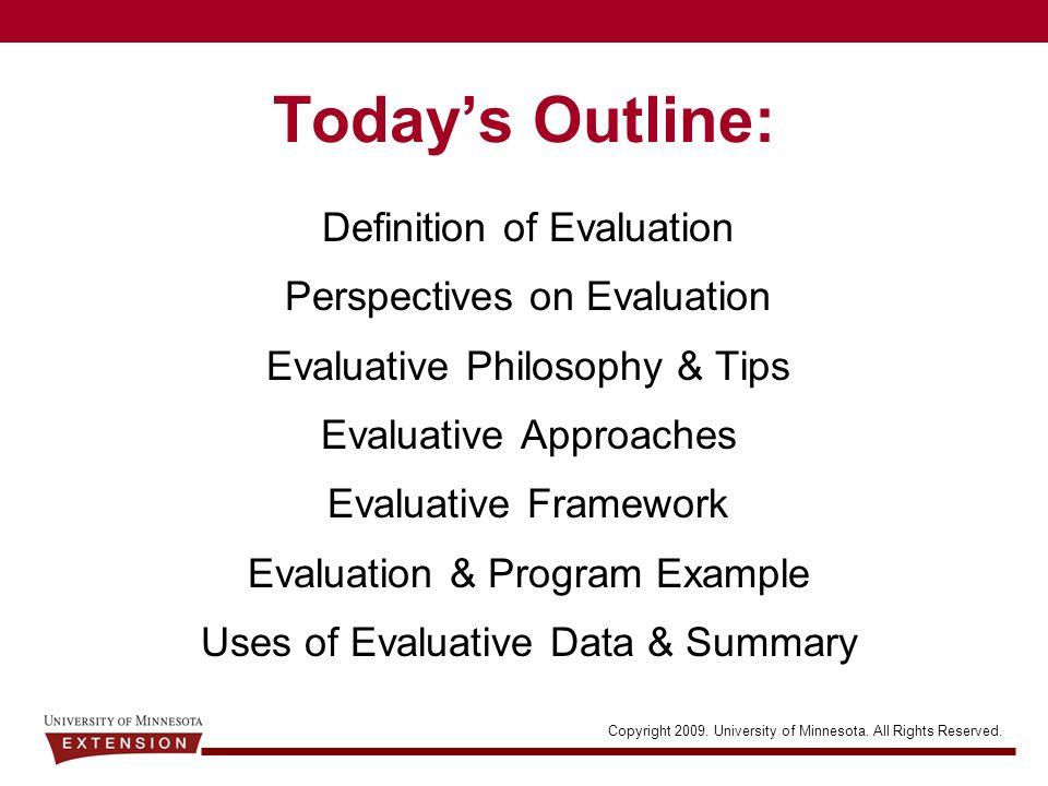 evaluative summary definition